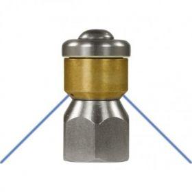 Форсунка вращающаяся каналопромывочная (вход 3/8внут, 3 отверстия, размер 040)