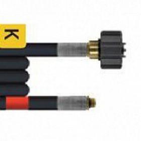 Шланг для прочистки труб и промывки канализации с форсункой (3 отверстия, размер 100) 40m (DN05, 200bar, 100°C, М22х1,5внут-1/8внеш)