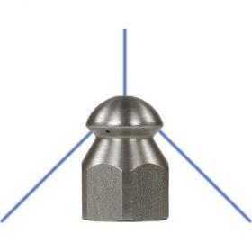 Форсунка каналопромывочная (с боем назад, вход 1/4внут, 3 отверстия, размер 060)